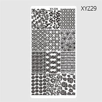 Amazon Com 1pcs 126cm Rectangle Nail Stamping Template Patterns