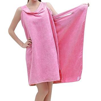 Toalla de baño para mujeres, envoltura de para ducha de microfibra, albornoz, toalla de baño para ...