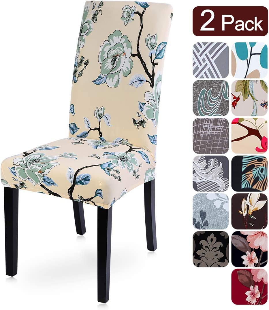 Ceremony Hotel Searchi Dining Room Chair Covers Set Of 2 Spandex Fabric Fit Stretch Removable Washable
