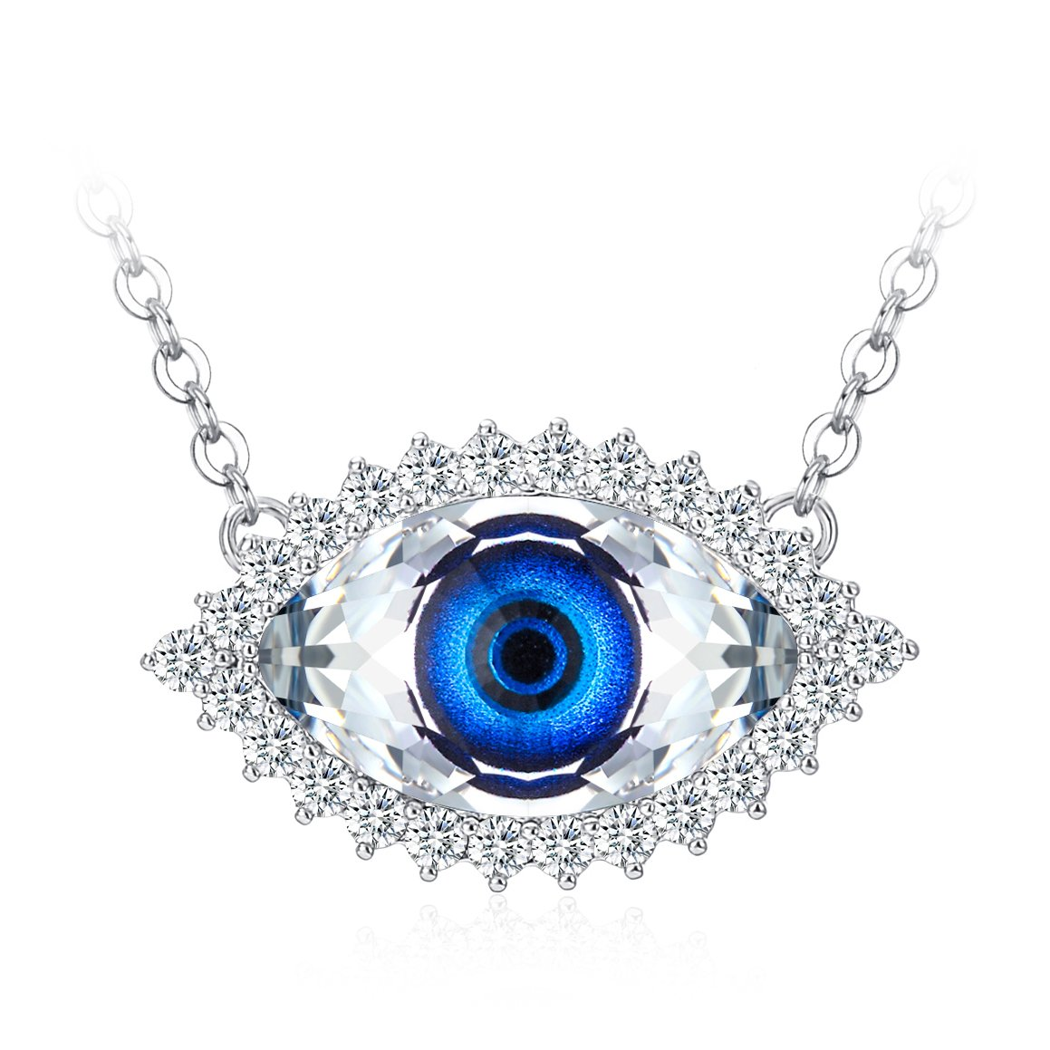 Amazon.com  Tojean Gifts for Mom  Evil Eye  Women Jewelry Necklace Blue Eye  Pendant Made with Swarovski Crystal fbcd9111aa