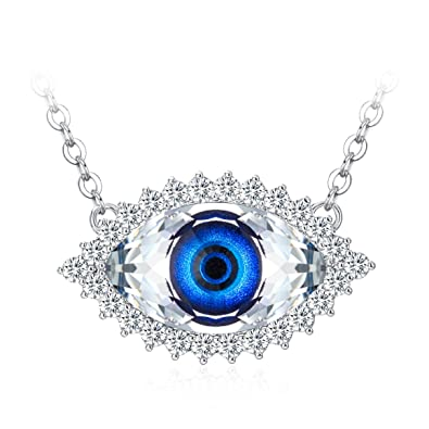 Tojean Gifts for Mom  Evil Eye  Women Jewelry Necklace Blue Eye Pendant  Made with 38d1ecb6a542