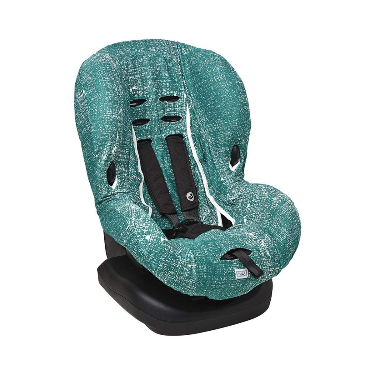 Lines - Emerald Green Meyco Baby ** Kuschelig weicher UniversalBezug//SchonBezug ** 100/% atmungsaktive Baumwolle ** 3 UND 5 Punkt Gurt System ** Gr/ö/ße 1 z.B f/ür Maxi-Cosi Priori//SPS//XP u.a.