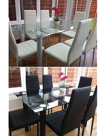 Awe Inspiring Dining Table Sets Shop Amazon Uk Machost Co Dining Chair Design Ideas Machostcouk