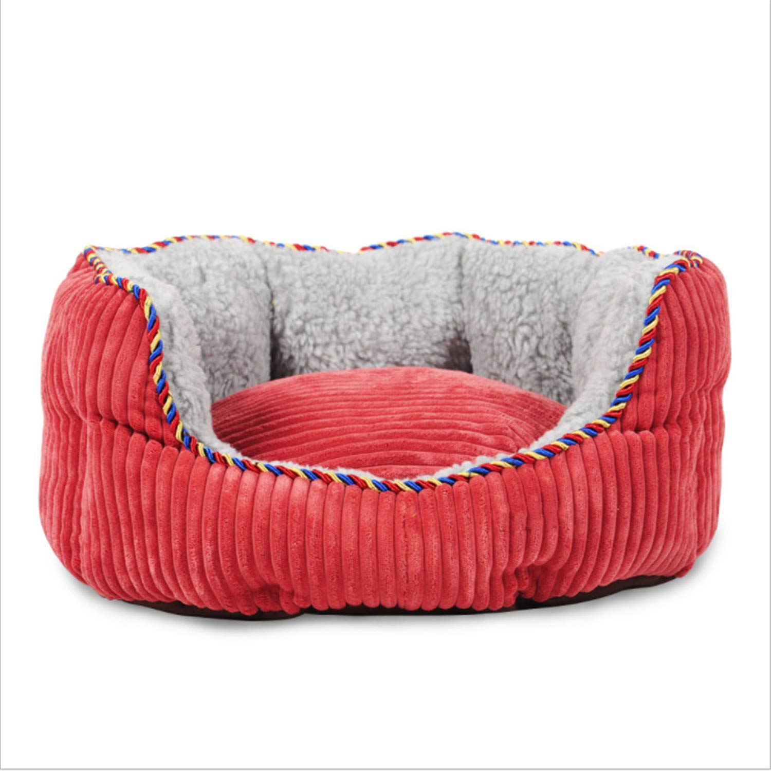 Medium Dog Kennel,high Quality Dog Bed mat Sofa,Natural Lambswool Oxford Cloth Teddy Cat nest Pet Supplies,Two Sizes