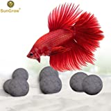 Luffy 10 Betta Mineral Balls - Calcium-rich Tourmaline Balls for Perfect Nutrient Balance - With Over 30 Beneficial Minerals for Active Fish - Natural Décor for Fish Tank - Beauty with a Purpose