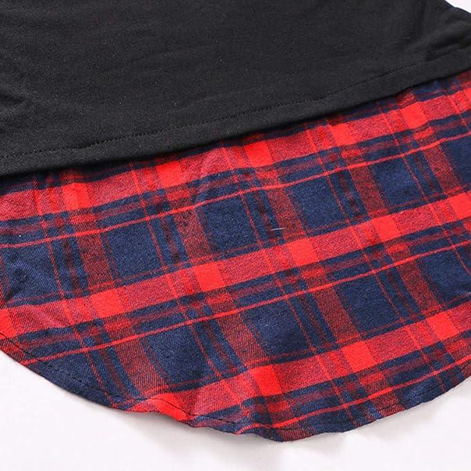 Luckycat Plaid Encapuchado de Las Mujeres con Camisa de Cuello Diagonal y Blusa Superior: Amazon.es: Ropa y accesorios