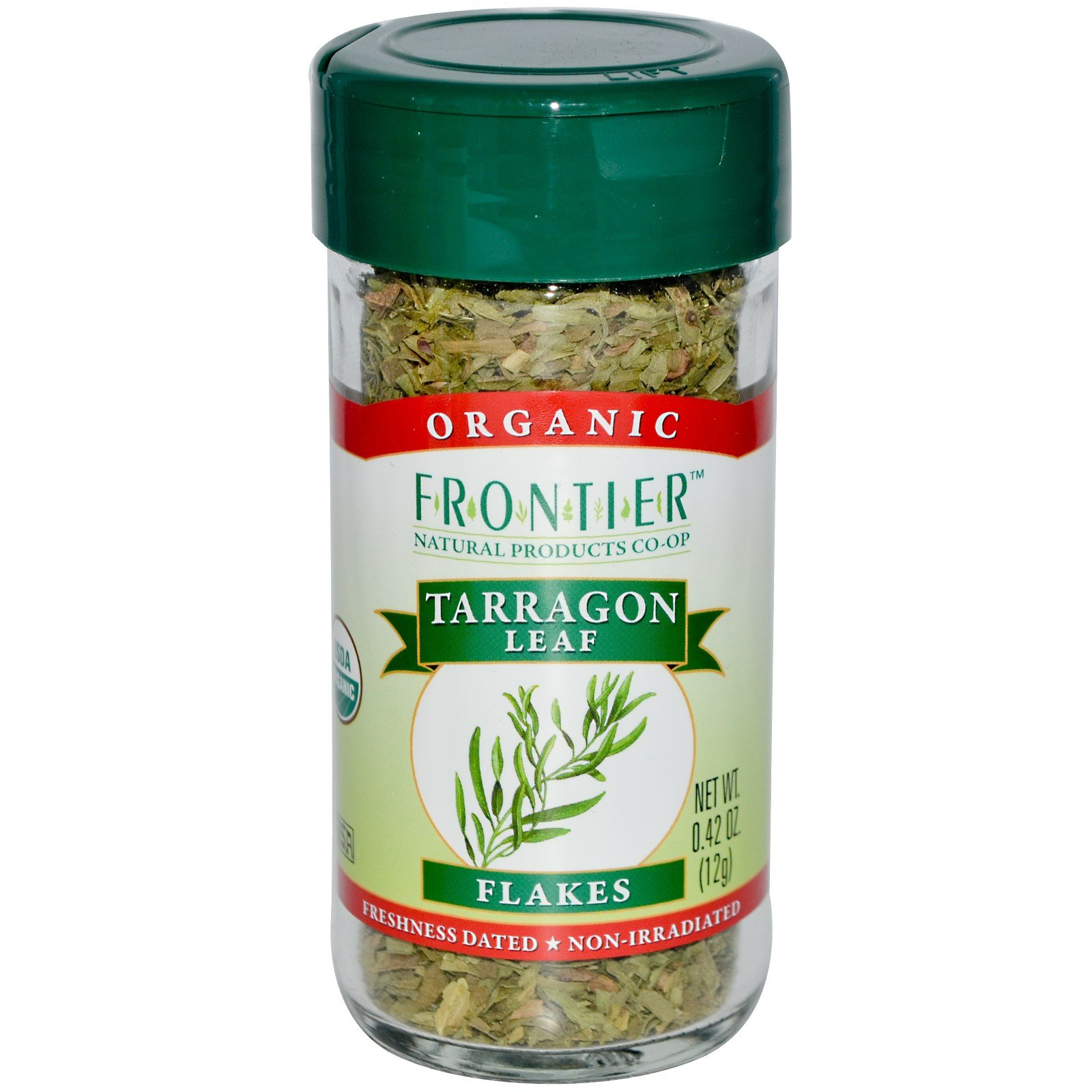 Frontier Natural Products, Organic, Tarragon Leaf Flakes, 0.42 oz (12 g) - 2PC
