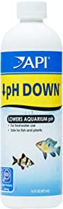 API pH DOWN Freshwater Aquarium Water pH Reducing Solution 16-Ounce Bottle