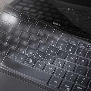 """Leze - Ultra Thin Soft Keyboard Protector Skin Cover for 13.3"""" Dell XPS 13 9365 9370 Laptop US Layout - TPU"""