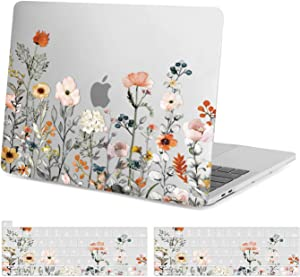 MOSISO MacBook Pro 13 inch Case 2016-2021 Release A2338 M1/A2289/A2251/A2159/A1989/A1706/A1708, Plastic Hard Shell, Keyboard Cover Compatible with MacBook Pro 13 inch Touch Bar, Garden Floral