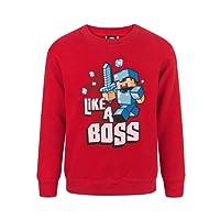 Official Minecraft Like A Boss Boy's Sweatshirt