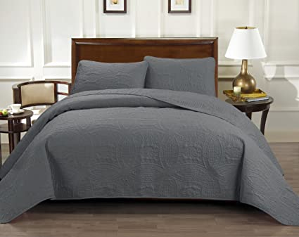 Where To Buy Bedspreads.Rizzo Italian Collection Oversize Luxury Coverlet 100x106 Inches 1800 Premier Series 3 Piece Bedspread Set Super Soft Sale Highest Quality 100