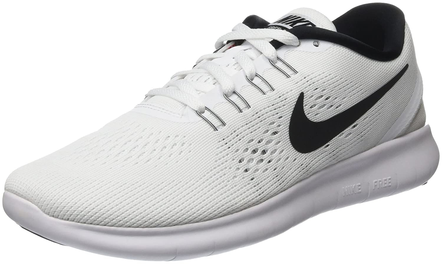 NIKE Men's Free RN Running Shoe B0147SM9EK 7.5 D(M) US|White/Black