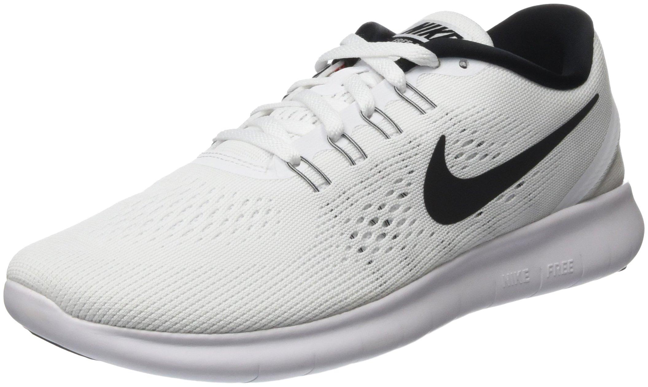 Nike Mens Free Rn Running Shoe White/Black 7