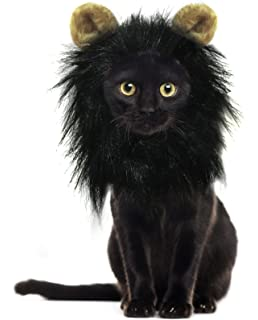 onmygogo lion mane wig for cats with ears funny pet cat costumes for halloween christmas