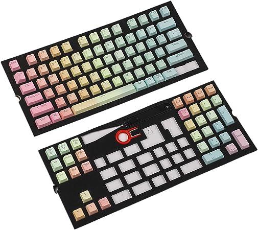 YMDK Double Shot 104 108 PBT - Juego de teclas para teclado ...