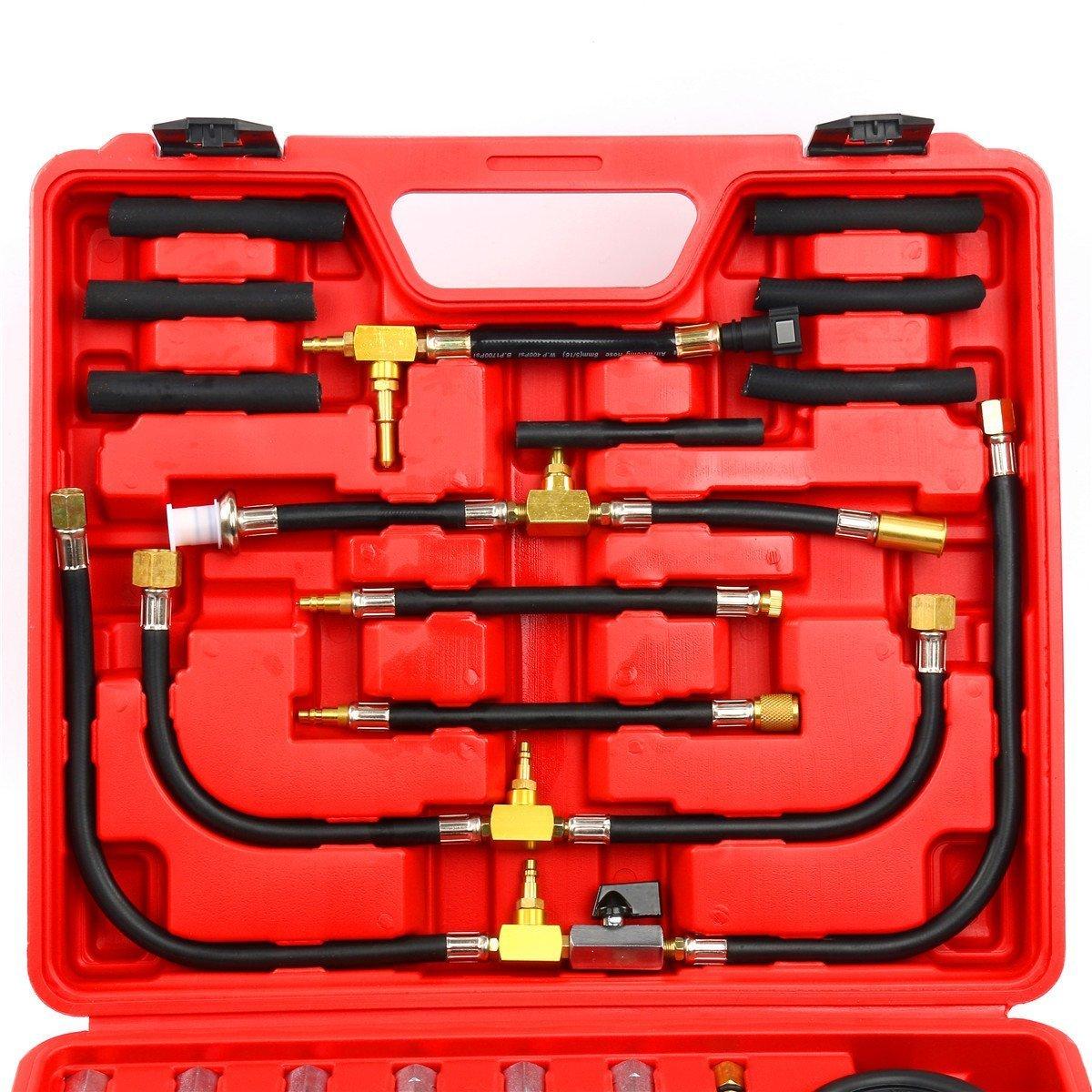 8MILELAKE Pro Oil Fuel Injection Pressure Tester Kit 0-140 PSI System by 8MILELAKE (Image #7)