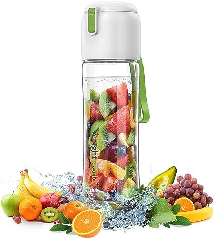 Zulay Kitchen wasserflasche mit Obst Infuser f/ür gesunde /& lecker Trink flip-top Deckel Anti-Slip /& bpa frei Rezepte ebook /& reinigungsb/ürste 34 oz mit Infuser Isolierung Sleeve