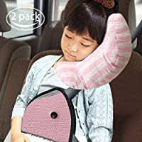 Car Seat Travel Pillow For KidsSeatbelt Pad Headrest Neck Support Sleeping And Seatbelt