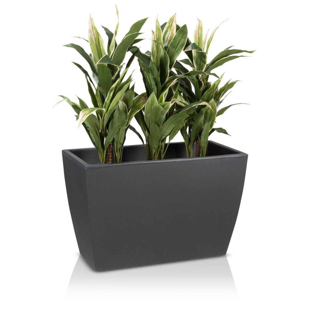 Pflanztrog Blumentrog ARTESA 50 Kunststoff, 80x40x50 cm, anthrazit matt