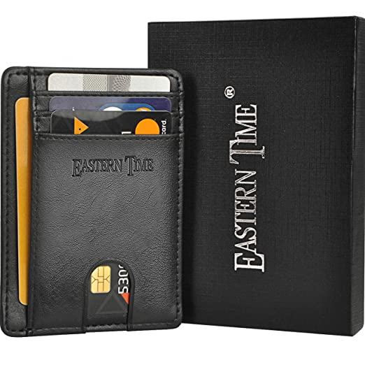 d7160f30a481 RFID-Wallets-for-Men-Thin Wallet Front Pocket Minimalist Clear ID ...