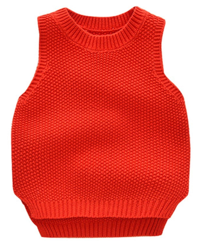 AUIE SAOSA Children's fashion Solid color round neck cotton vest