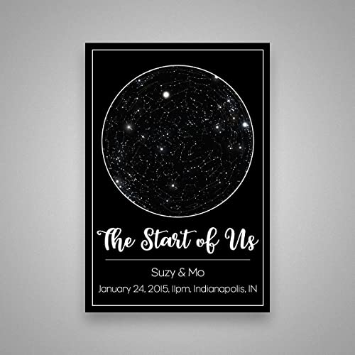 Custom Personalized Star Constellation Map, Star Chart, Choose Your Occasion, Custom Engagement Anniversary Present, Cool Gift Idea, Night Sky Poster 13x19