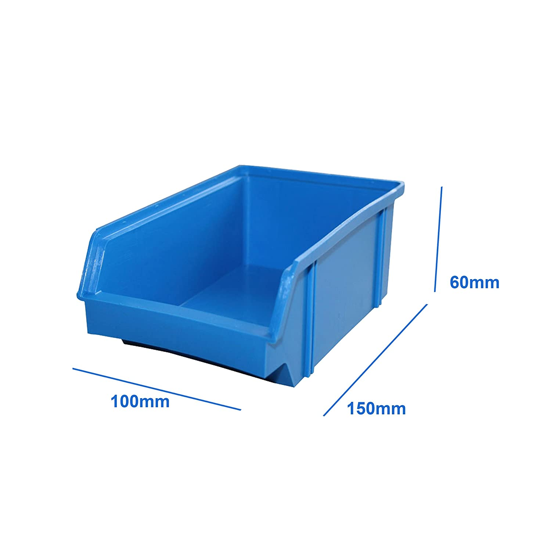 Systeme Lantelme 15 Stück Stapelboxen Kunststoff blau