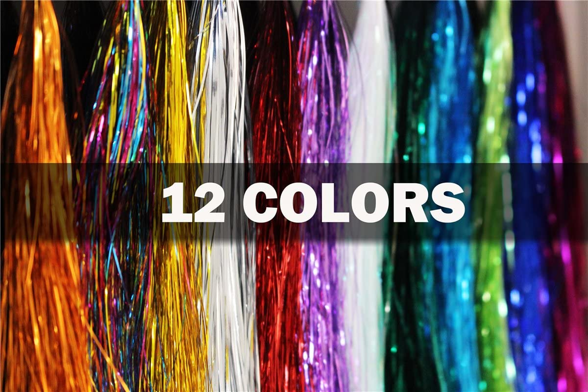 10 Packs//Lot Flashabou//Holographic Tinsel Flash Tinsel Fly Tying Materials