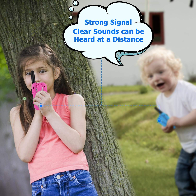 Dignel Walkie Talkies, Kids Walkie Talkies, 2 Packs 22 Channels Outdoor Toys, 3 Miles Range Walkie Talkies for Kids Camping Outdoor Adventures by Dignel (Image #5)