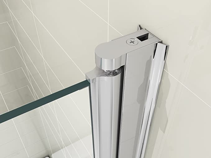 HNNHOME - Pantalla Plegable de Vidrio de 6mm para Ducha con Panel ...
