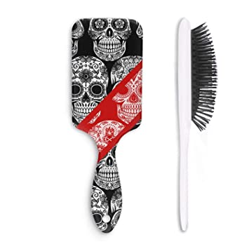 Amazon.com : Unisex Detangle Hair Brush Day of the Dead Sugar-Skull Boar Bristle Paddle Hairbrush for Wet, Dry, Thick, Thin, Curly hair : Beauty