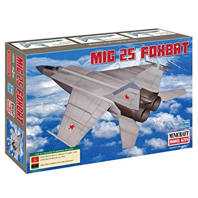 Minicraft MIG-25 Foxbat 1/144 Scale with 3 Marking Options: Toys & Games