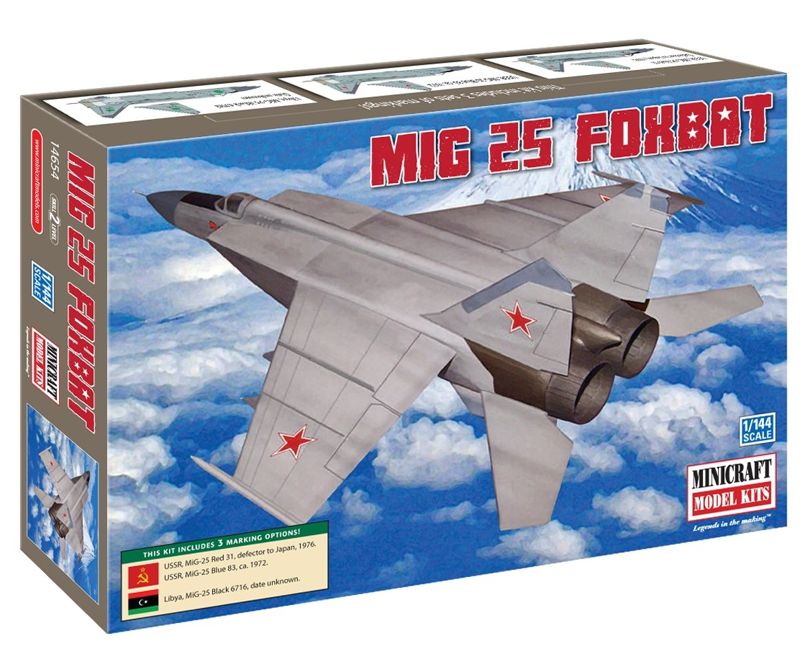 Minicraft MIG-25 Foxbat 1/144 Scale with 3 Marking Options