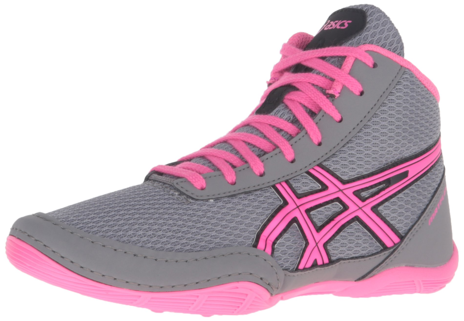 ASICS Matflex 5 GS Skate Shoe (Little Kid/Big Kid), Aluminum/Hot Pink/Black, 1 by ASICS