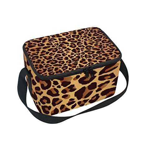 Amazon.com: ALAZA leopardo brillante piel de animal bolsa de ...
