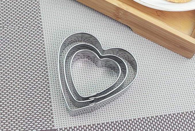 Juego de cortadores de galletas de acero inoxidable/Mini formas geométricas/moldes de metal de acero inoxidable/moldes de corte geométrico de borde liso ...