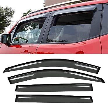 Smoke 02-06 Chevy Avalanche Suburban 1500//2500 Window Deflector Visor Vent Guard