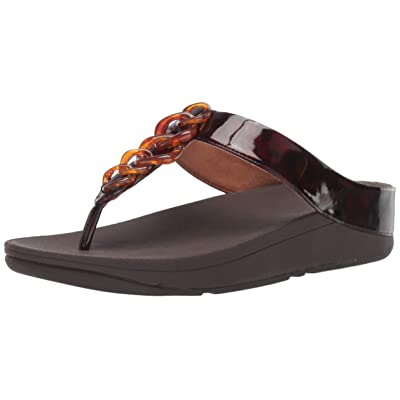 FitFlop Women's Fino Tortoiseshell Chain Sandal | Platforms & Wedges