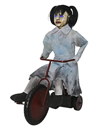 spirit halloween 25 ft tricycle doll animatronics decorations