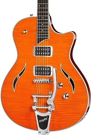 Taylor guitarras jb-t3 Semi hueca guitarra eléctrica, color naranja ...