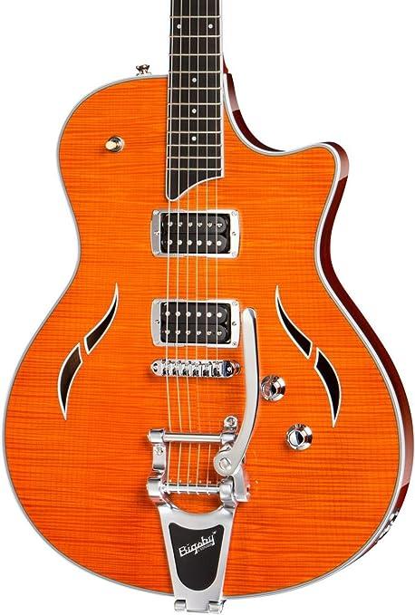 Taylor guitarras jb-t3 Semi hueca guitarra eléctrica, color naranja