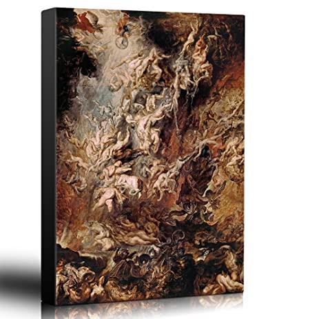 Wall26   Oil Painting Of U0026quot;Fall Of The Rebel Angelsu0026quot; By Peter Paul