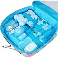 Baby Grooming kit Set Infant Baby Grooming Tools Newborn Manicure Set Baby Healthcare Nail Clippers Hairbrush Tool Set…