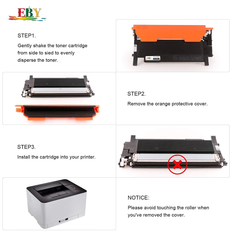 EBY Cartuchos de tóner Compatible CLT-404S CLT-404 CLT-P404C para Samsung Xpress SL-C480 SL-C480FW SL-C480W SL-C480FN SL-C430 SL-C430W SL-C482 ...