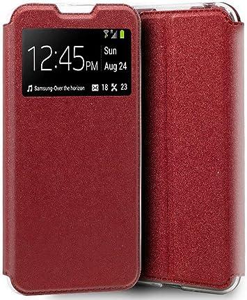Funda Libro Soporte con Ventana para Xiaomi Mi A3 Color Roja: Amazon.es: Electrónica