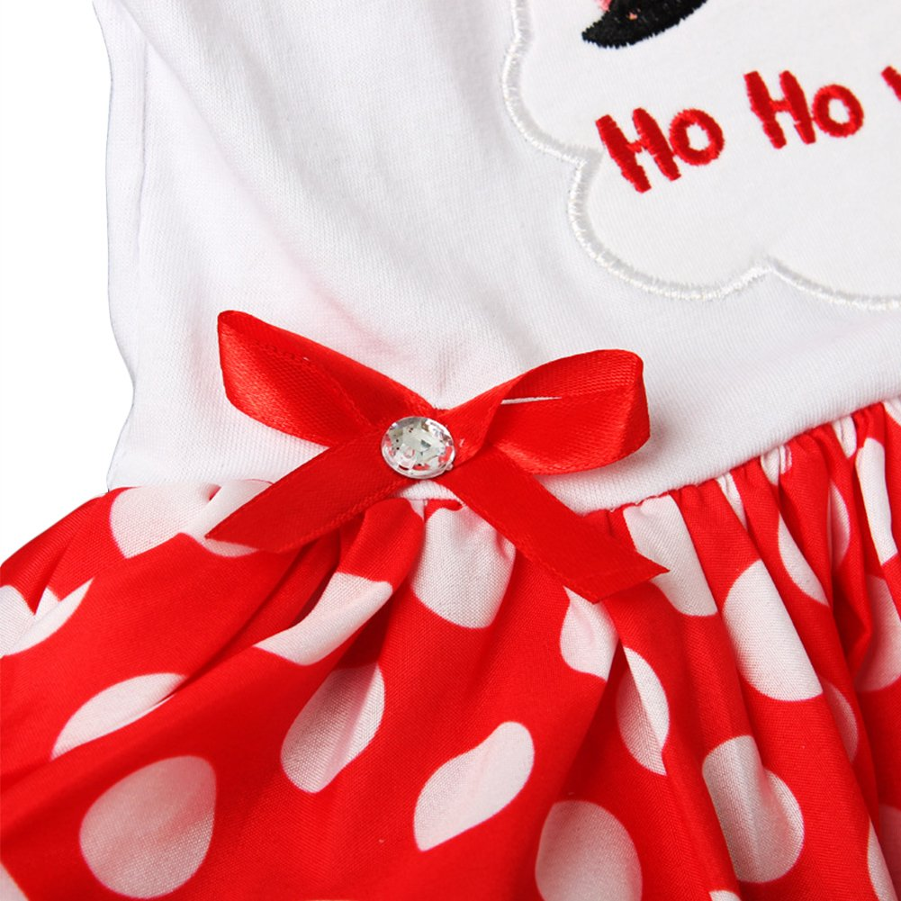 First Christmas Baby Girls Romper Party Dress Headband Shoes 2//3Pcs Set Outfit