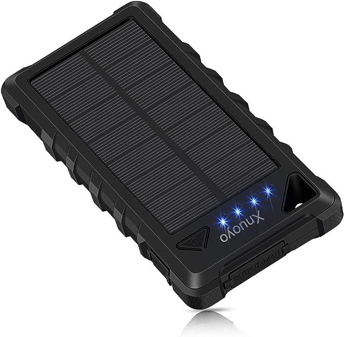 62 opinioni per Xnuoyo 20000mAh Caricabatterie Solare Impermeabile Power Bank Solare Portatile