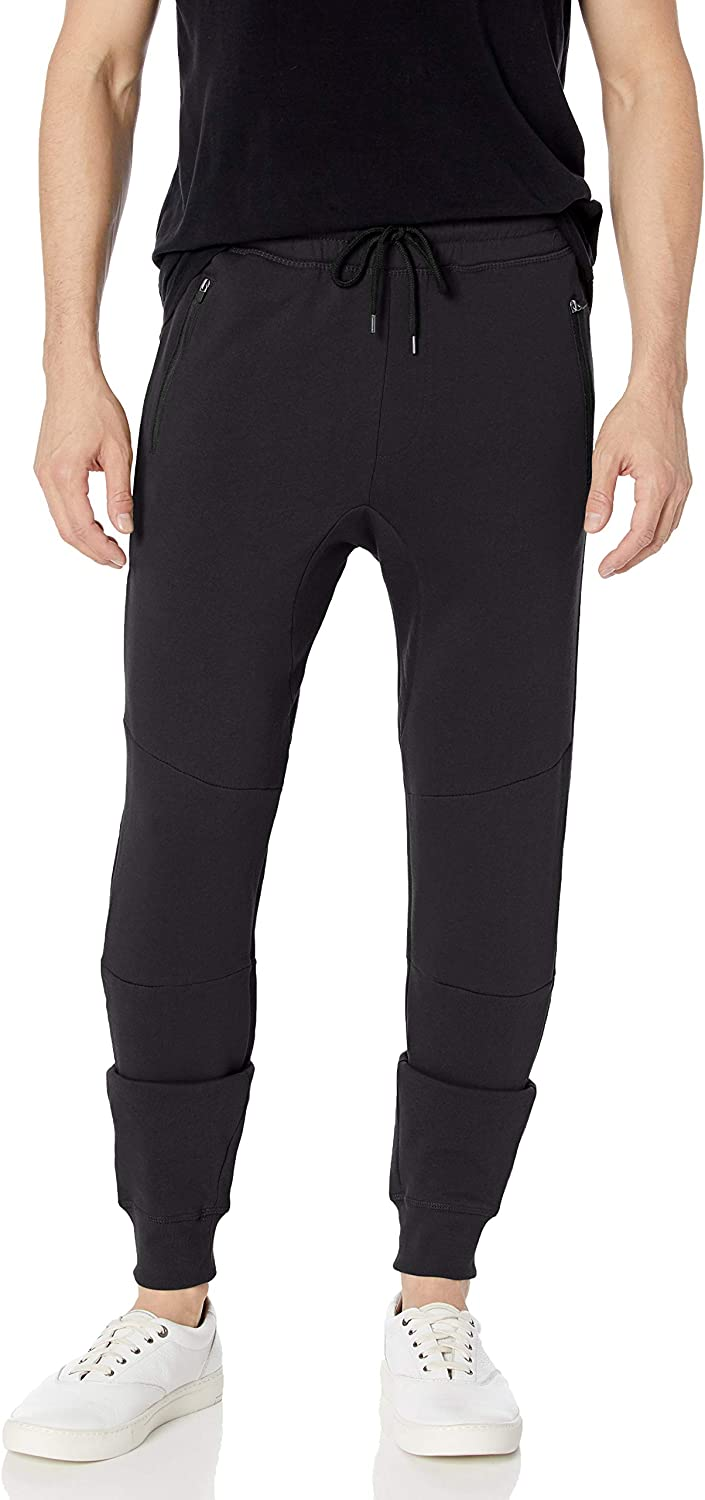 Brooklyn Athletics Mens Fleece Jogger Pants Active Zipper Pocket Sweatpants