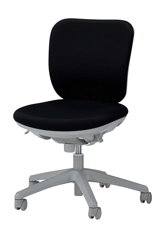 品番42092 オフィスチェアー〈セレーナ〉 ブラック アームレスタイプ ロッキングストッパー付   B01M0DN8US